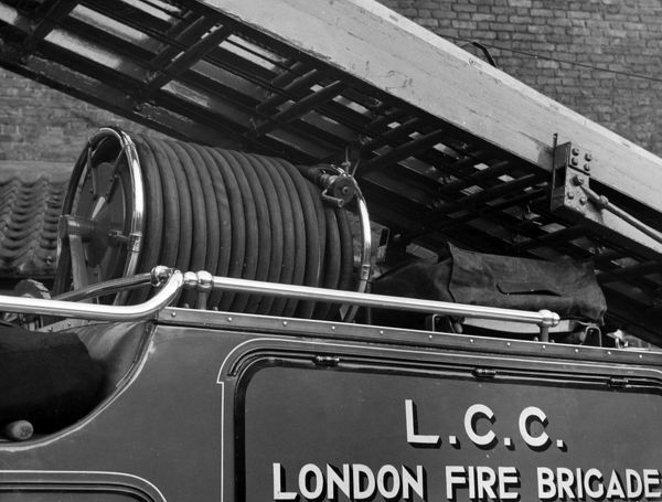 Close-up of a London Fire Brigade fire engine