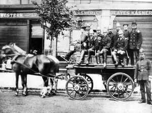 Ealing Fire Brigade with horse-drawn appliance
