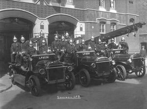 Shadwell Fire Station crew and fire engines on display