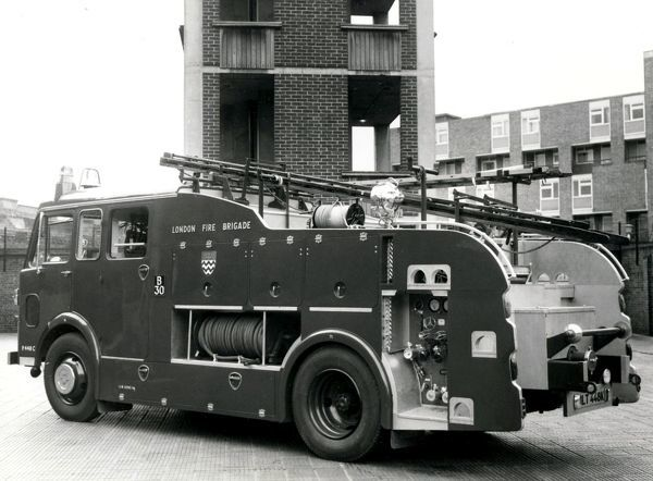 The GLC-LFB was created on 1 April 1965. A series of photos was commissioned of each type of fire engine, either within or absorbed into the enlarged London Fire Brigade