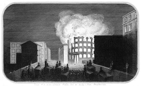 Destruction by fire of Collard's Piano-forte Manufactory - Oval Road, Camden, London on 19th December 1851