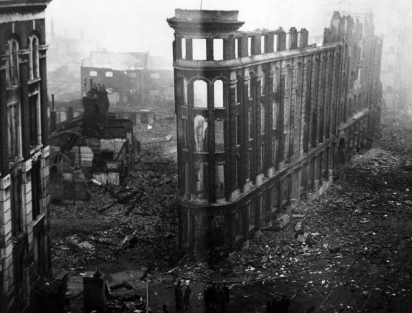 Blitz bomb damage at the junction of Southwark Street and Summer Street, London - 30th December 1940