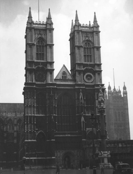 Facade of Westminster Abbey, London