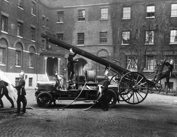 Self-propelled fire engine at LFB Southwark HQ