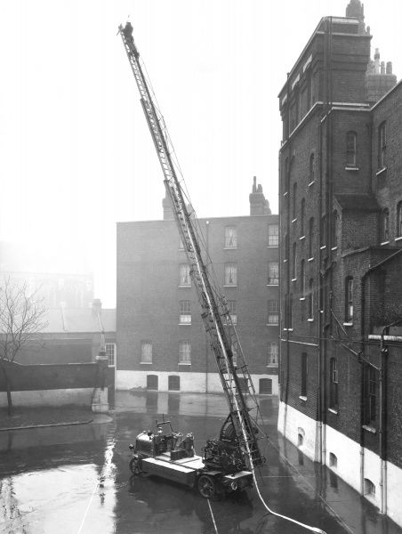 Turntable ladder drill at Southwark HQ