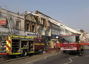 Firefighters at scene of fire in Ealing
