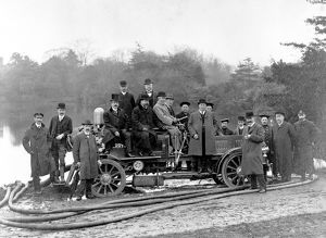 LCC-LFB fire engine trials at Crystal Palace