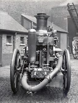 LCC-LFB rear of a Shand Mason steam fire engine