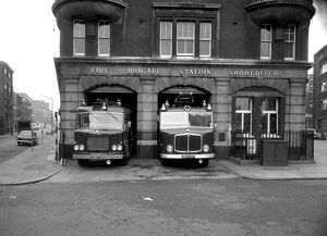 LCC-LFB Shoreditch fire station, Hackney