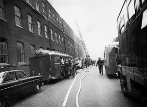 LFB and London Salvage Corps at a serious fire