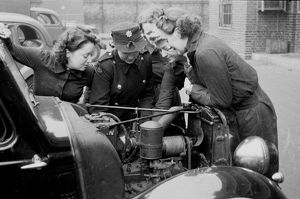 NFS firewomen at work, rest and play, WW2