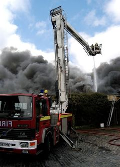Scene of fire at commercial premises, Penge