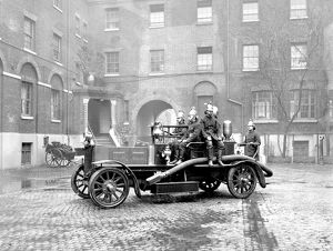 Self-propelled fire engine at LFB HQ, Southwark