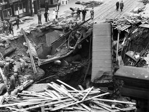 Blitz in London -- Balham High Road, WW2
