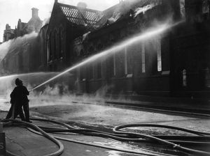 Firefighting at Eccleston Place, Victoria, London