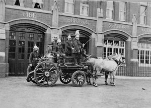 LCC-MFB Dulwich fire station and horse steamer